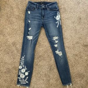 Abercrombie Harper Low Rise Ankle Jeans